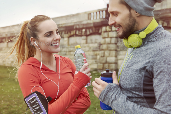 Fitness is more than exercising, it's lifestyle - Stock Photo - Images
