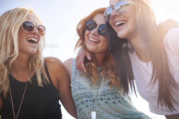 I know that I can count on you girls - Stock Photo - Images