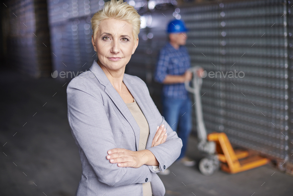 Professional manager at the warehouse - Stock Photo - Images