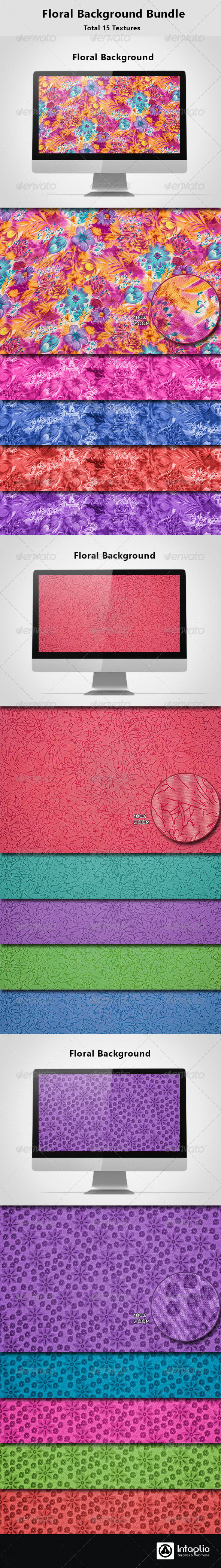 Floral Background Bundle - Backgrounds Graphics