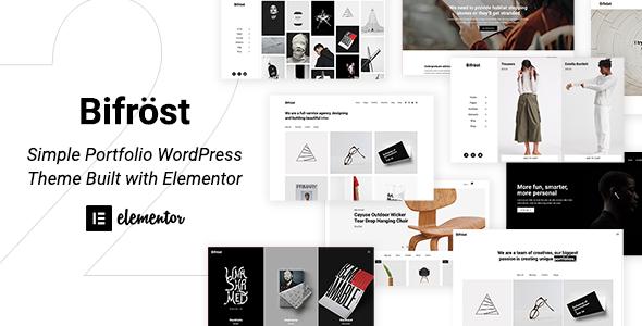Bifrost - Simple Portfolio WordPress Theme