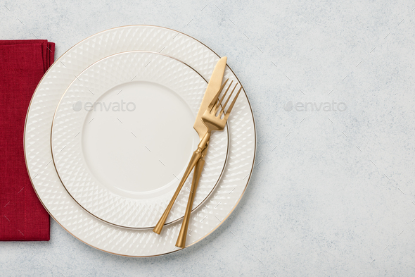 Holiday table setting - Stock Photo - Images