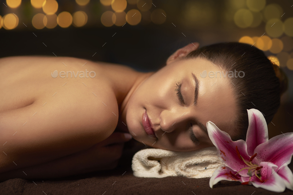 Relaxing in spa after long day - Stock Photo - Images