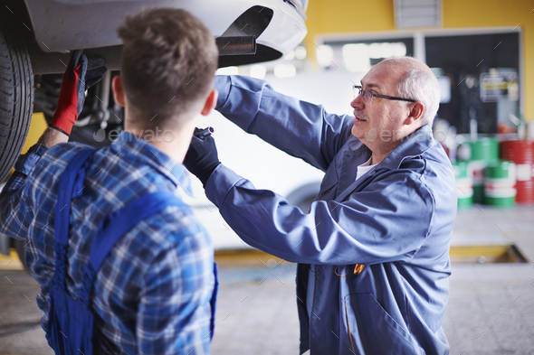 Teamwork is basic in this workshop - Stock Photo - Images