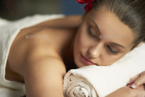 Relaxing day at the best spa - Stock Photo - Images