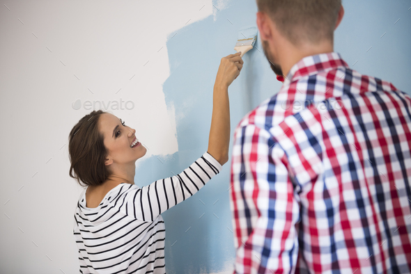 Our house is going to be beautiful - Stock Photo - Images