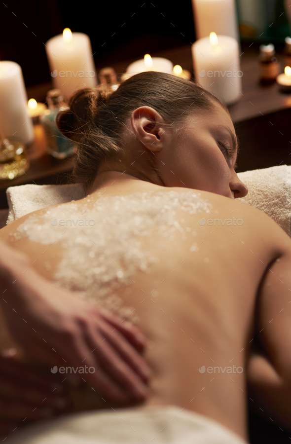 Night atmosphere at health spa - Stock Photo - Images