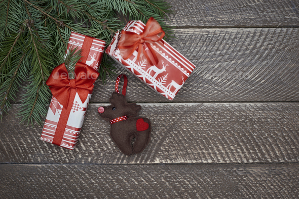 Amazing homemade christmas ornaments on the table - Stock Photo - Images