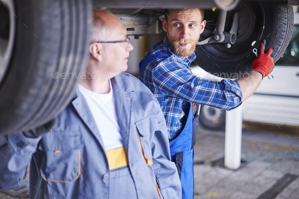 My tire is screwed and yours? - Stock Photo - Images