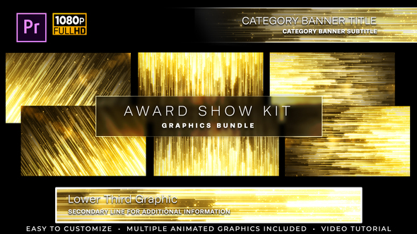 Awards Show Kit | MOGRT for Premiere Pro