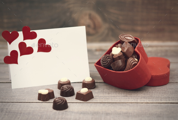 Box with chocolates is for you - Stock Photo - Images