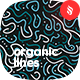Colored Organic Lines Seamless Patterns
