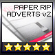 InDesign Magazine Paper Ripped Ad v.2 // 8 Styles - GraphicRiver Item for Sale
