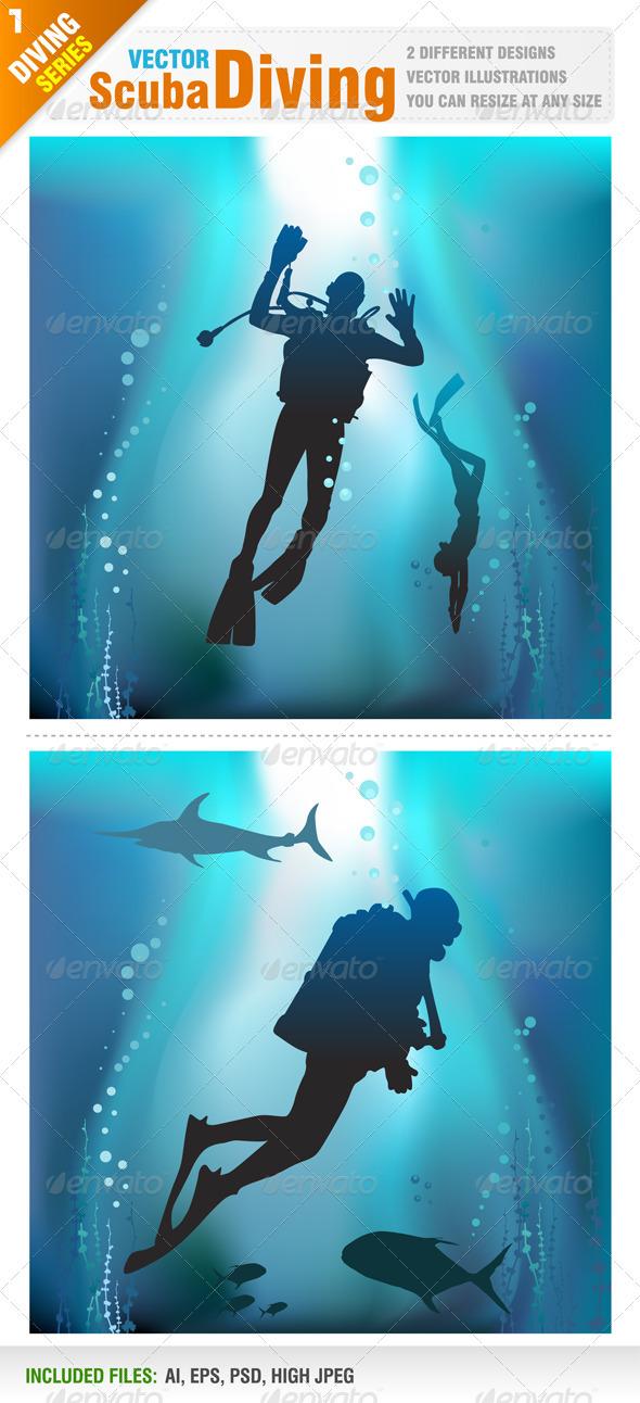 Scuba Diving - Sports/Activity Conceptual