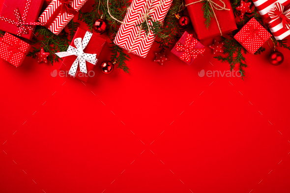 Christmas Boxes Gifts - Stock Photo - Images