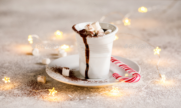 Hot Chocolate Christmas  Drink - Stock Photo - Images
