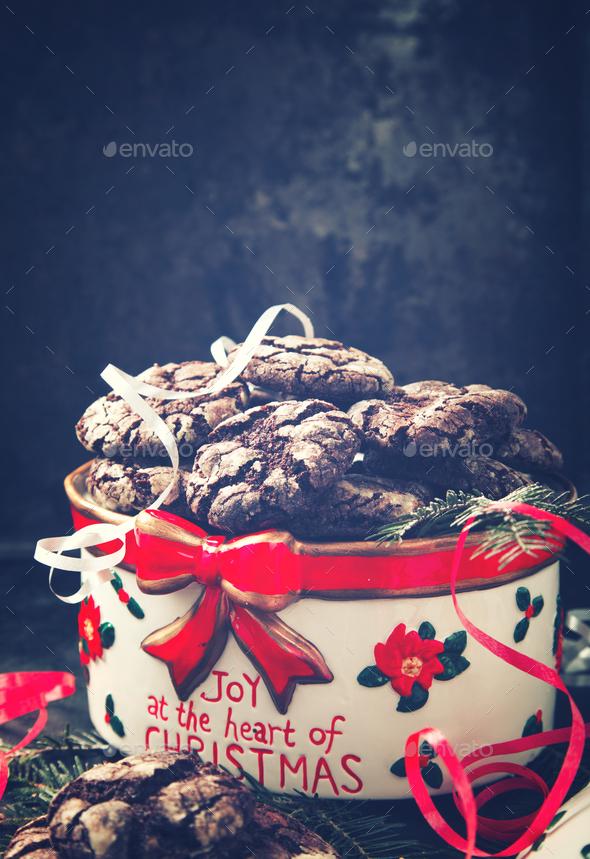 Christmas Cookies Chocolate - Stock Photo - Images