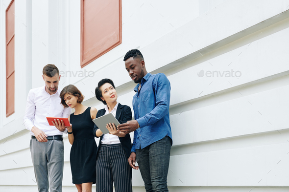 Business people thinking about solution to improve business - Stock Photo - Images