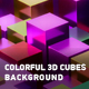 Abstract Colorful 3D Cubes Background - VideoHive Item for Sale