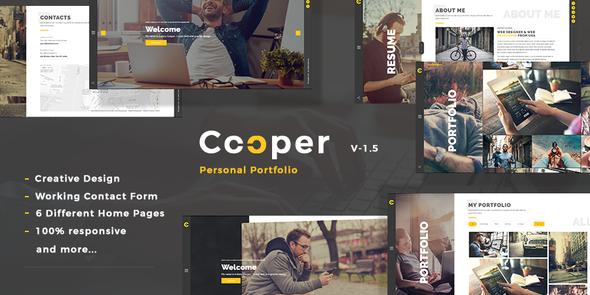 Cooper - Creative  Responsive Personal  Portfolio by kwst