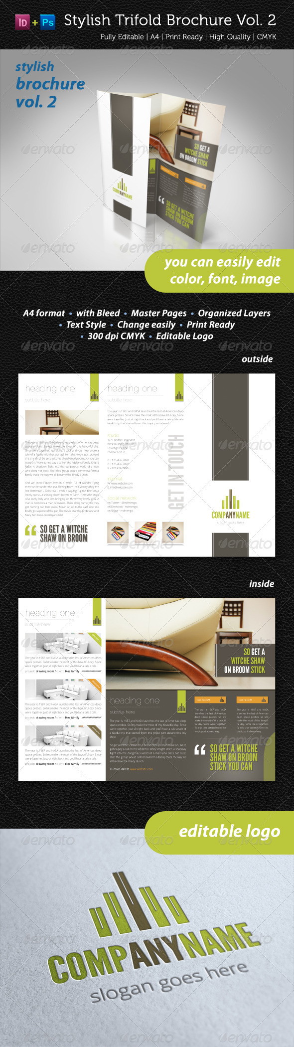 Stylish Trifold Brochure Vol. 2 - Informational Brochures