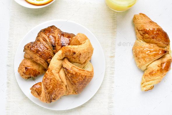 Croissants, top view - Stock Photo - Images