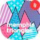 Memphis Triangles Seamless Patterns