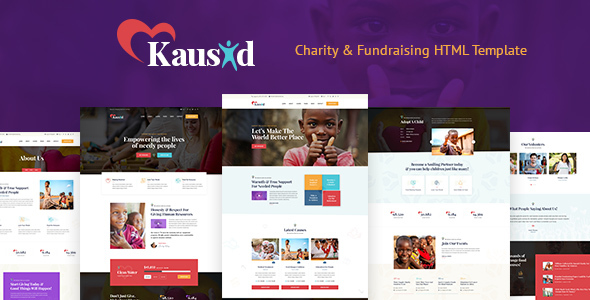 Kausid - Responsive HTML Template for Charity & Fund Raising
