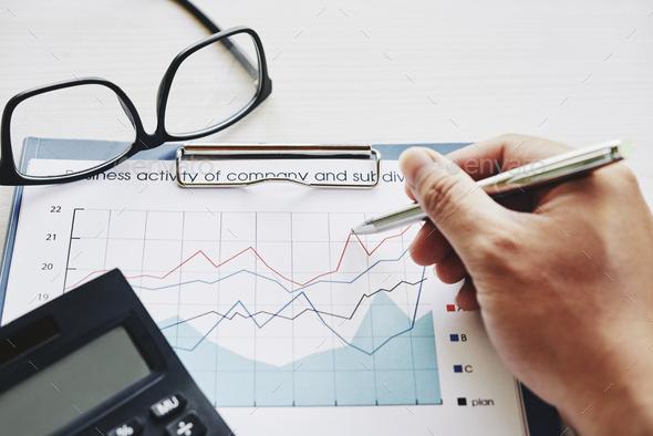Analyzing business activity - Stock Photo - Images