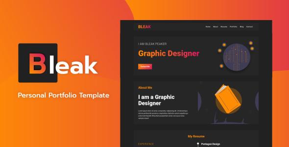Bleak - Personal Portfolio Template