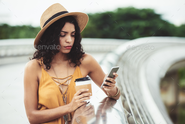 Lovely Hispanic woman - Stock Photo - Images