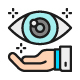 Set Of Ophthalmology Color Icons. Pack Of 64x64 Pixel Icons