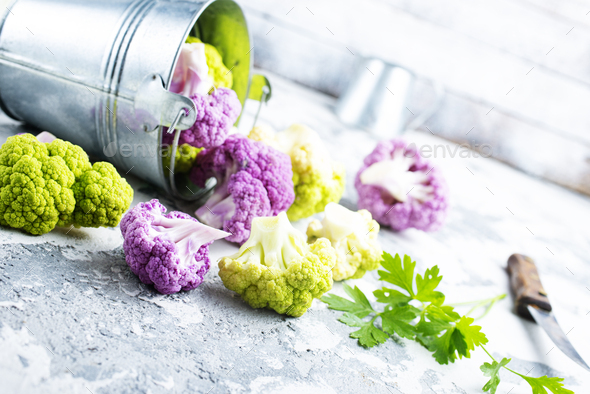 color cauliflowers - Stock Photo - Images