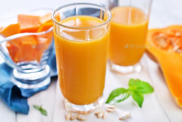 pumpkin juice - Stock Photo - Images