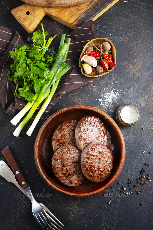 fried cutlets - Stock Photo - Images