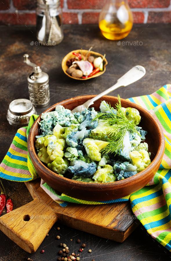 fried cauliflower - Stock Photo - Images