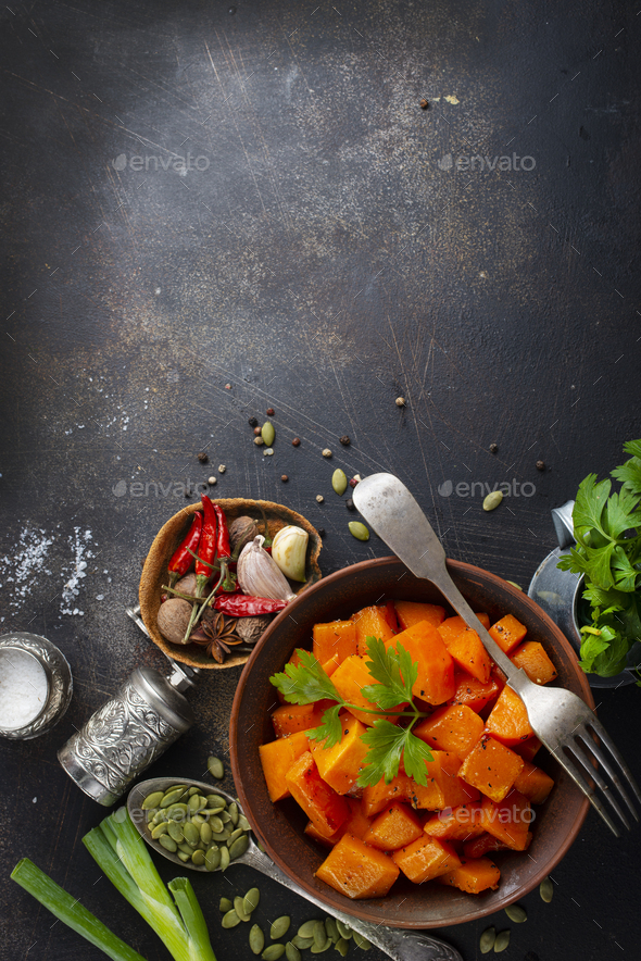 fried pumpkin - Stock Photo - Images