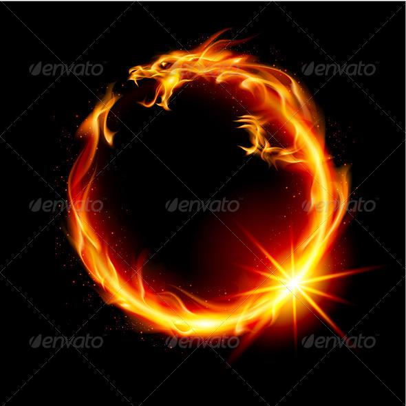 Fire Dragon - Characters Vectors