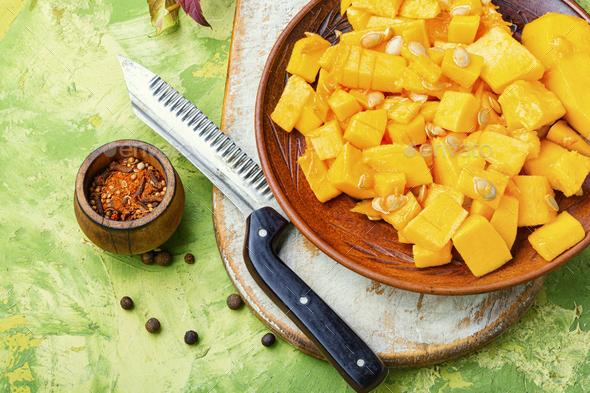 Piece of pumpkin - Stock Photo - Images