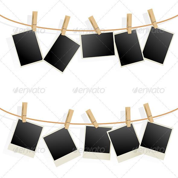 Photo Frames on Rope - Retro Technology