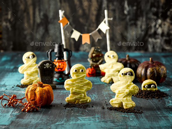 Halloween Mummy Cookie - Stock Photo - Images
