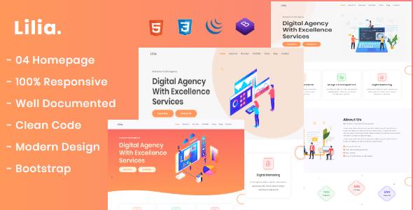 Lilia - Creative Digital Agency HTML Template