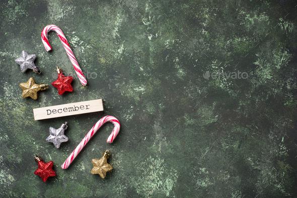 Christmas background with shiny glitter stars - Stock Photo - Images