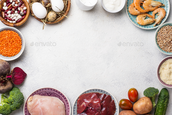 Natural products sources of chromium - Stock Photo - Images