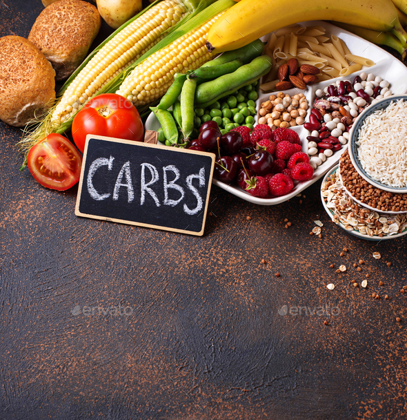 Healthy products sources of carbohydrates. - Stock Photo - Images