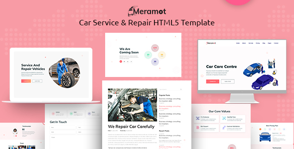 Meramot - Car Repair and Servicing  HTML Template by CreandyStudio