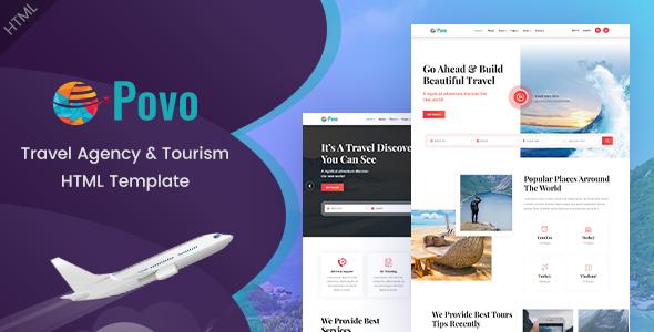 Povo - Travel Agency HTML Template by EnvyTheme