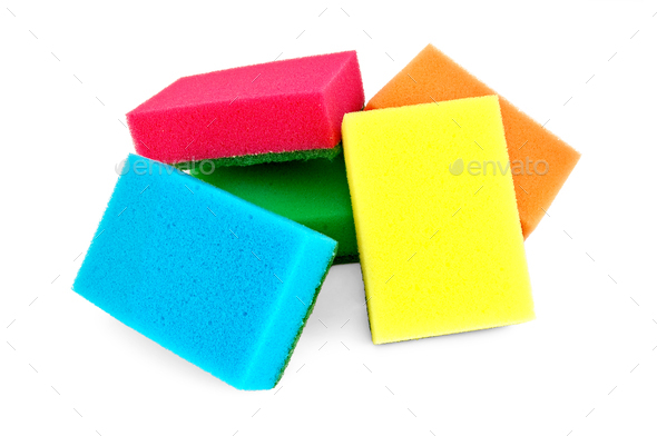 A pile of colorful sponges - Stock Photo - Images