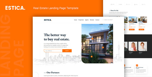 Estica — Real Estate Landing Page Template by thememor