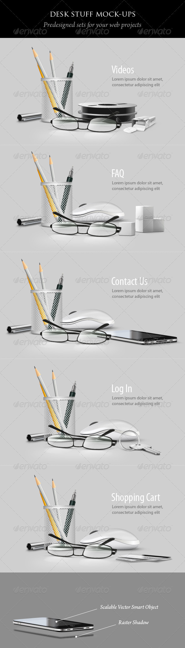 Desk Stuff - Miscellaneous Product Mock-Ups